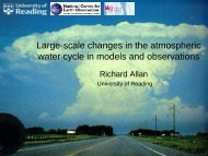 Climate models, modelling future evolution of water vapour in the ...