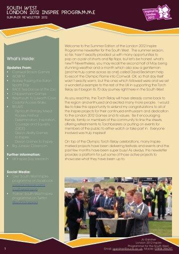 Inspire Programme Newsletter - Arts University Bournemouth