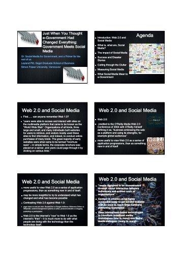 Agenda Web 2.0 and Social Media Web 2.0 and Social Media Web ...