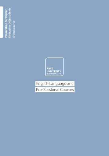 Pre-sessional course Prep HE 5 week - Arts University Bournemouth