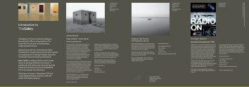 The Gallery Spring Programme 2012.pdf - Arts University ...