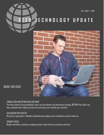 FEED TECHNOLOGY UPDATE - AquaFeed.com