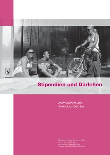 Informationsbroschüre Stipendien und Darlehen