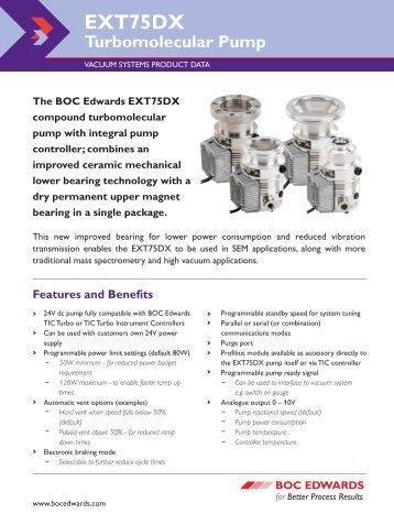 EXT75DX turbo pump datasheet - Ultimate Vacuum