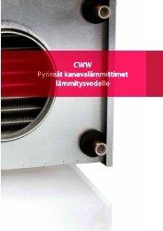 CWW Pyöreät kanavalämmittimet lämmitysvedelle - Enervent