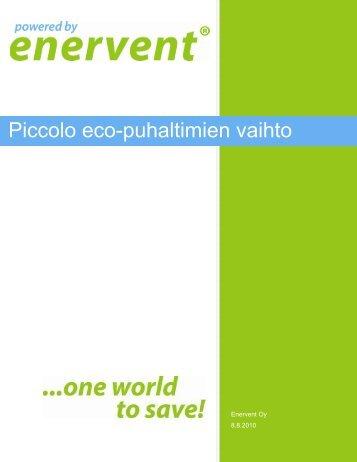 Piccolo eco-puhaltimien vaihto - Enervent