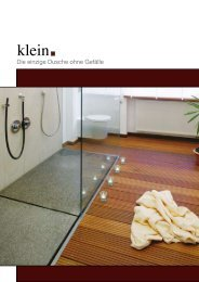 Die einzige Dusche ohne Gefälle - KlausKlein