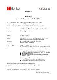 Einladung Workshop - F:data GmbH