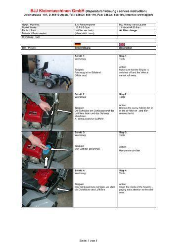 BJJ Kleinmaschinen GmbH (Reparaturanweisung / service instruction)