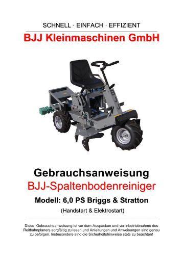 BJJ Kleinmaschinen GmbH Gebrauchsanweisung