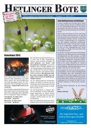 Osterfeuer 2013 - Haseldorfer Nachrichten