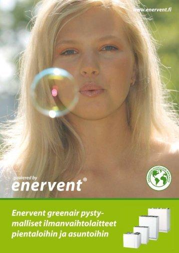 Enervent greenair pysty- malliset ilmanvaihtolaitteet pientaloihin ja ...