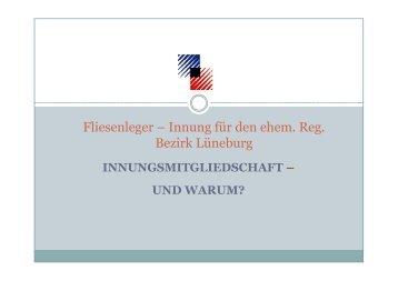 Leistungen der Fliesenleger-Innung - Kreishandwerkerschaft ...