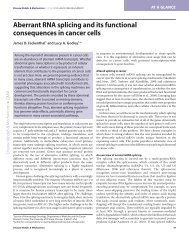 Aberrant RNA splicing and its functional consequences in cancer cells