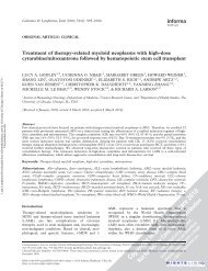 Treatment of therapy-related myeloid neoplasms with high-dose ...