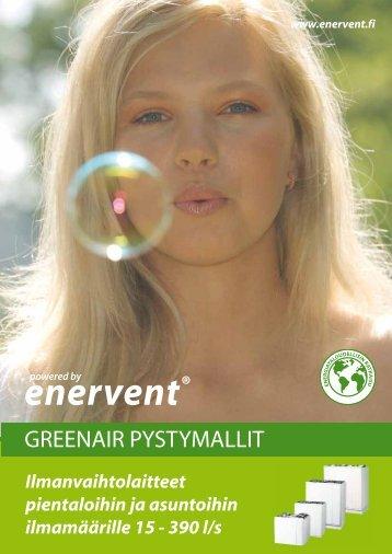GREENAIR PYSTYMALLIT - Enervent