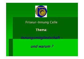 Leistungen der Friseur-Innungen - Kreishandwerkerschaft Lüneburger