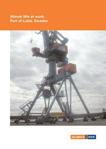 Alimak lifts at work: Port of Luleå, Sweden - Alimak Hek Group AB