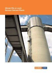 Alimak lifts at work: German Cement Plants - Alimak Hek Group AB