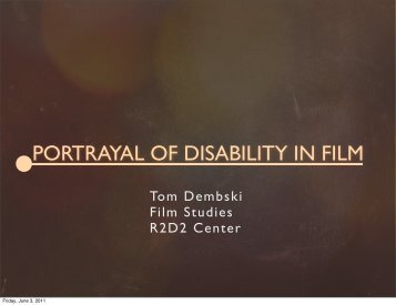 PORTRAYAL OF DISABILITY IN FILM - The Study Stream
