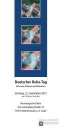 Deutscher Reha-Tag - Rhön Klinikum AG
