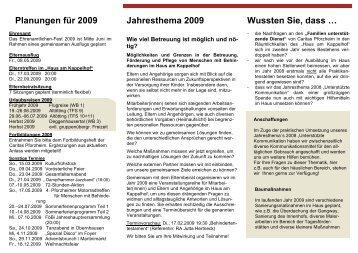 Was Sie schon immer ... Flyer 2009 - Caritas Pforzheim