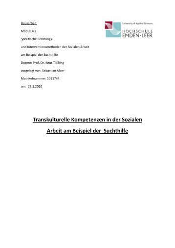 Hausarbeit Transkulturelle Kompetenz - transVer