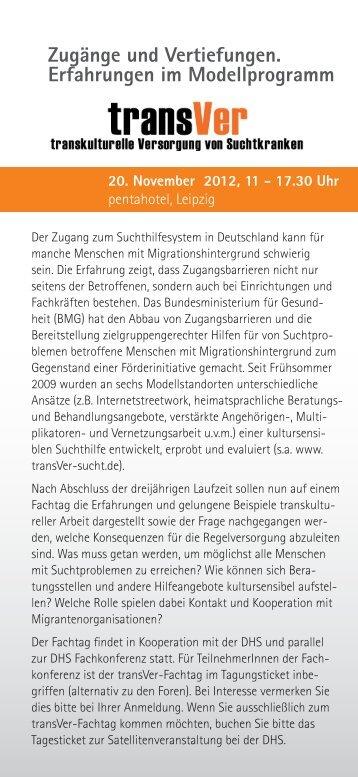 Zugänge und Vertiefungen. Erfahrungen im ... - transVer