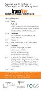 Zugänge und Vertiefungen. Erfahrungen im ... - transVer - Page 2