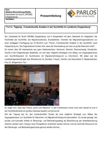 Pressemitteilung Tagung DROBS - transVer