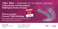 CIRSE 2011 – September 10 –14, Munich, Germany - Eurocor GmbH