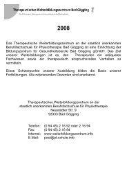 Fortbildungsübersicht 2008 - Berufsfachschule für Physiotherapie ...