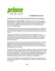 John Embree Joins Prince As President Of Prince - Platform Tennis ...