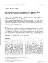The identification and characterisation of novel KIT transcripts in ...