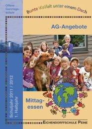 AG-Angebote Mittag- essen - Eichendorffschule