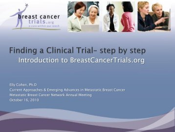 Introduction to BreastCancerTrials.org - Metastatic Breast Cancer ...