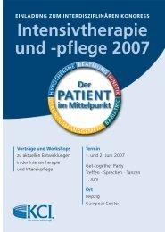 Intensivtherapie und -pflege 2007 - zwai