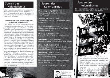 Spuren des Kolonialismus Spuren des Kolonialismus Spuren ... - AStA
