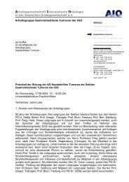 Arbeitsgemeinschaft Internistische Onkologie in der Deutschen ... - AiO