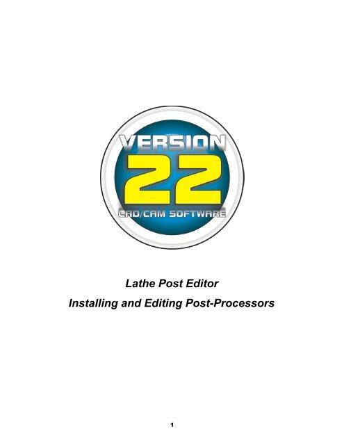 Editing a Post Processor - BobCAD CAM Inc
