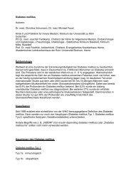 Diabetes mellitus Autoren: Dr. med. Christina ... - Mtaschule-os.de