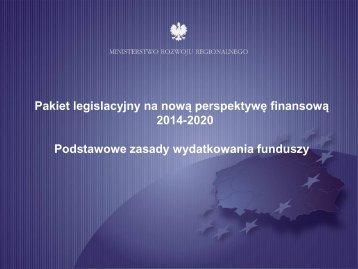 Pakiet legislacyjny na nową perspektywę finansową
