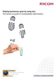 Sustainability Consultancy Brochure - Ricoh Europe