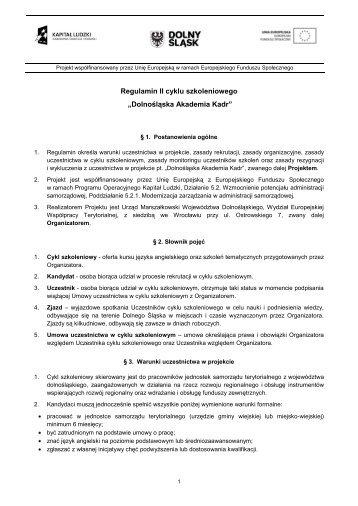 do pobrania - Urząd Marszałkowski Województwa Dolnośląskiego