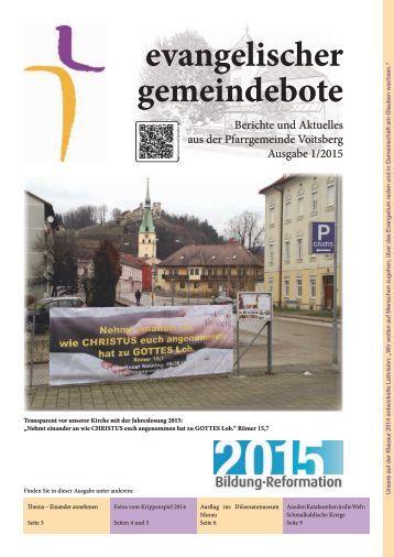 evangelischer gemeindebote 1/2015