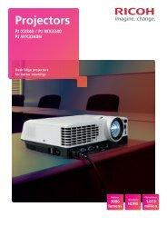 Desk Edge Projectors Brochure - Ricoh Europe