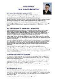 Interview mit Herrn Jens-Christian Voss - Ingenieurbüro Voss