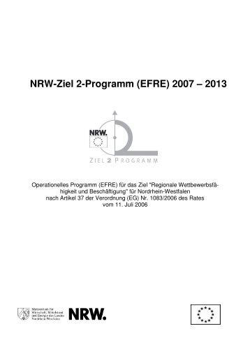 NRW-Ziel 2-Programm (EFRE) 2007 – 2013 - EU-Direct