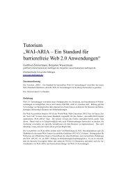WAI-ARIA – Ein Standard für barrierefreie Web 2.0 Anwendungen