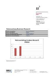 Notenaushang Business Research - IMU - Management